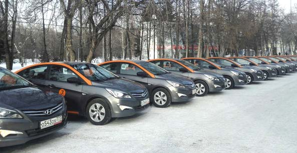 Автопарк Делимобиля в Новосибирске