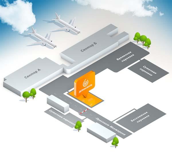 Делимобиль в Международном аэропорту Толмачево