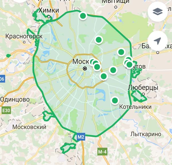 Зеленая зона Youdrive