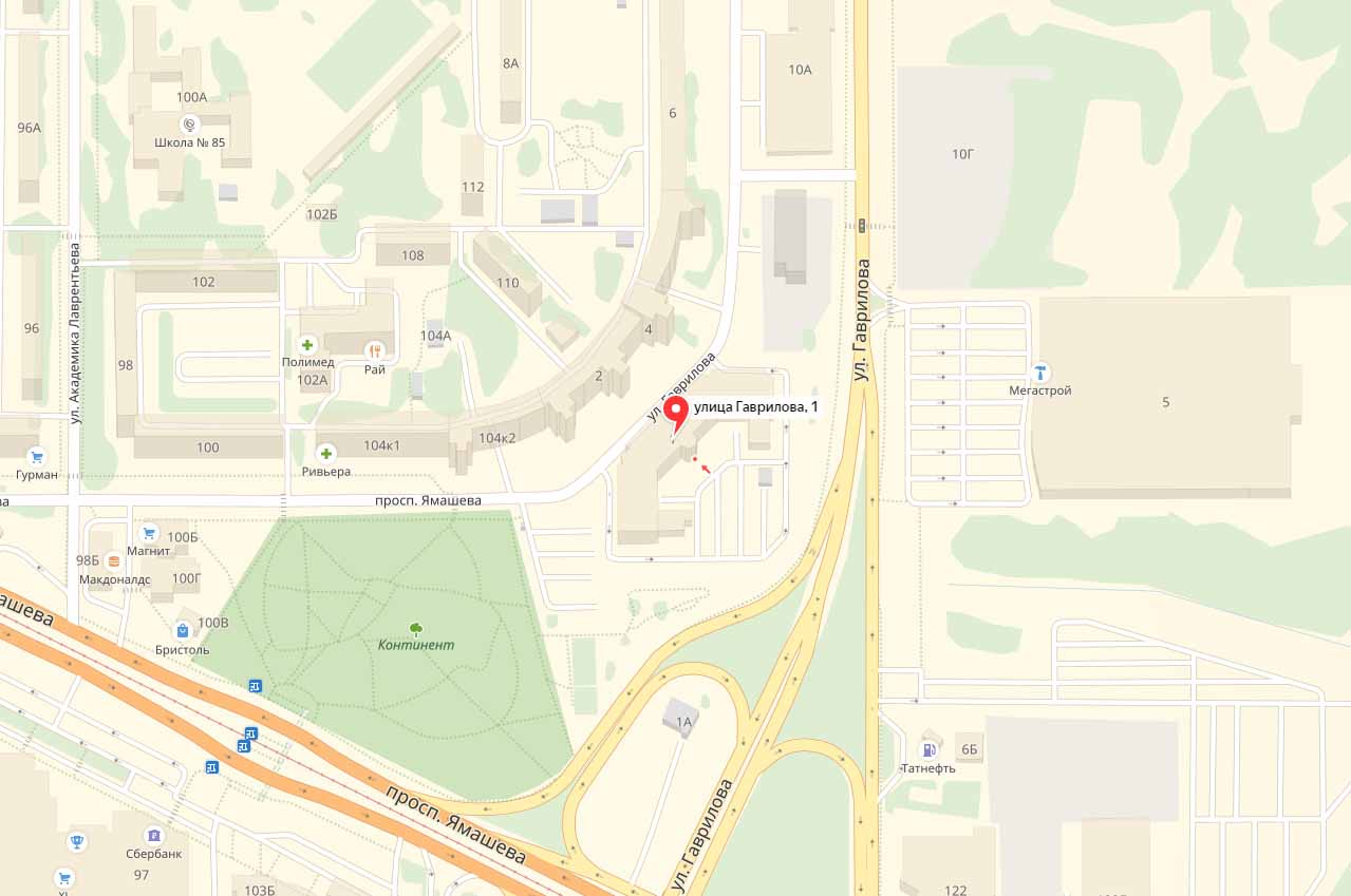 Схема проезда к офису такси Лидер