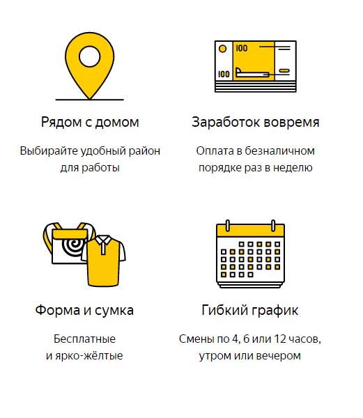 Условия работы в Яндекс Еда