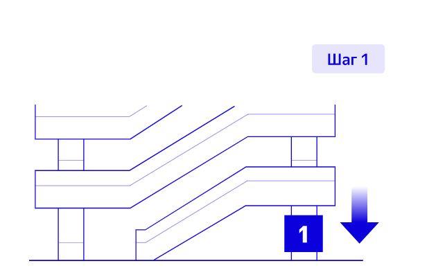 Выезд с парковки Шереметьево шаг 1